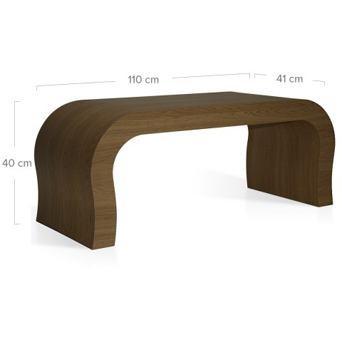 Curved Coffee Table Oak