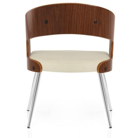 Evans Dining Chair Walnut & Cream - Atlantic Shopping