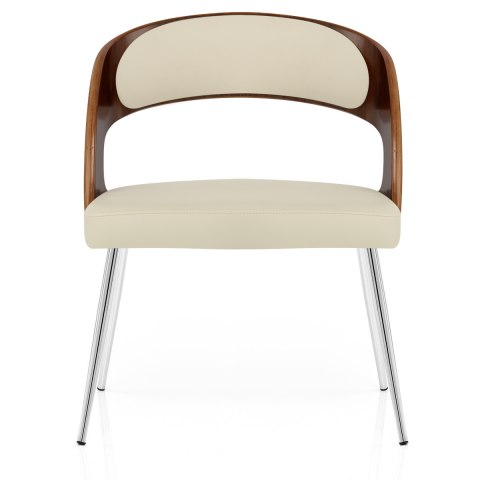 Beau Evans Dining Chair Walnut U0026 Cream ...