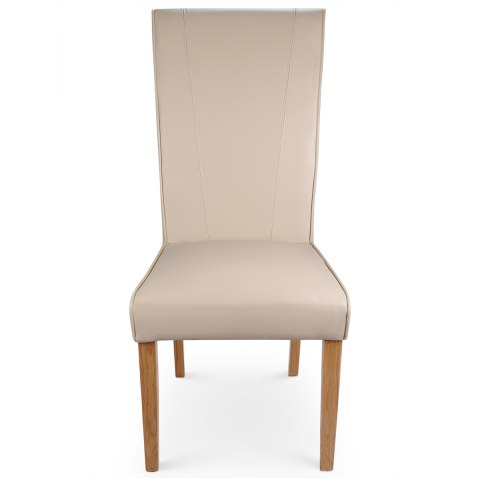 Marseille Madras Leather Dining Chair Cream