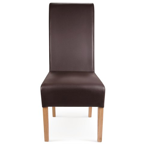 Krista Madras Leather Dining Chair Brown
