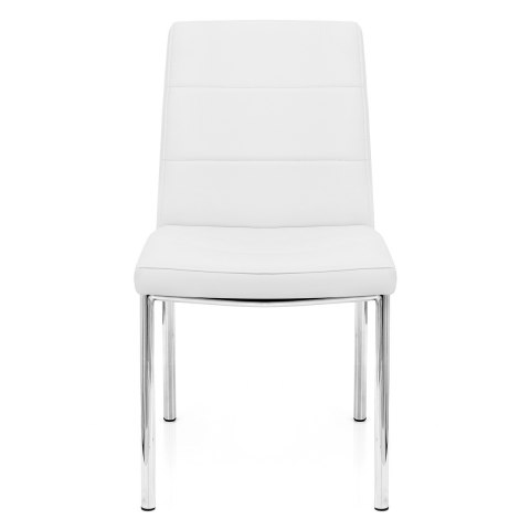 Chrome breakfast dining chair white atlantic shopping for White chrome dining chairs