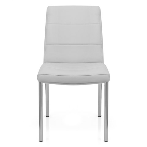 Brushed Steel Breakfast Dining Chair Grey