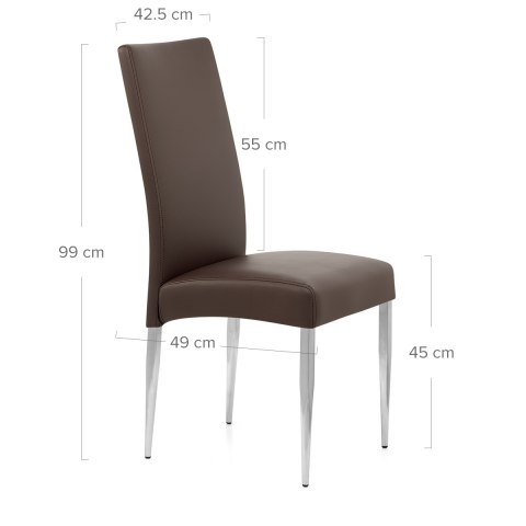 Primo Brushed Kitchen Chair Brown