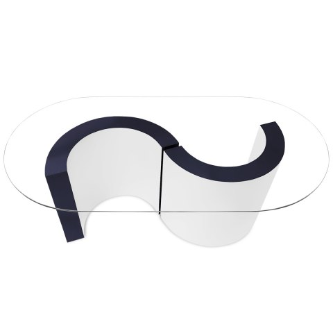 Apollo Coffee Table Blue & White