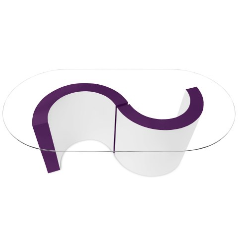 Apollo Coffee Table Purple & White