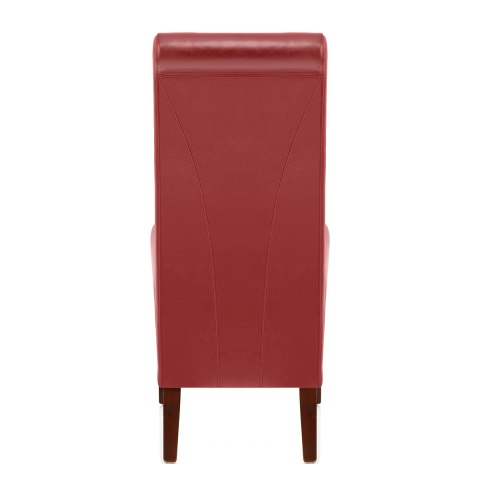 Carlo Walnut Chair Red Leather
