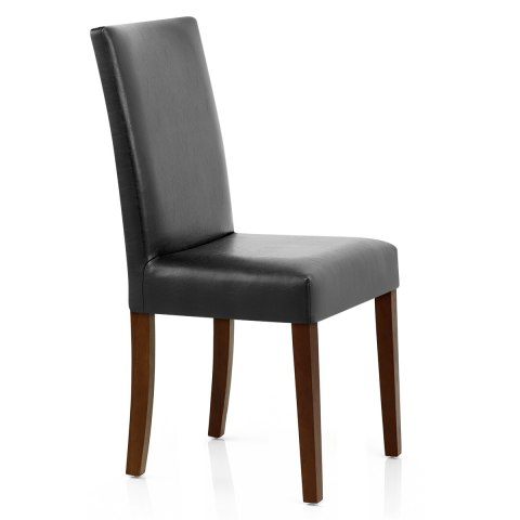 Chicago Walnut Dining Chair Black