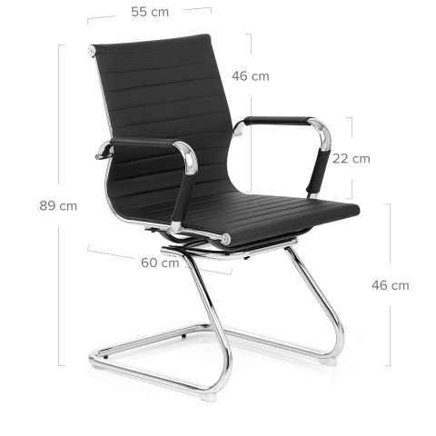 Eames Style Task Office Chair Black