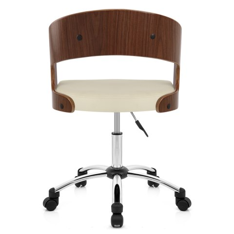 Evergreen Office Chair Walnut And Cream