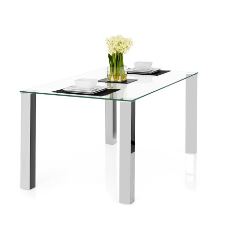 Chester Clear Glass Dining Table