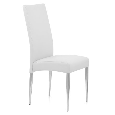 Primo Brushed Kitchen Chair White