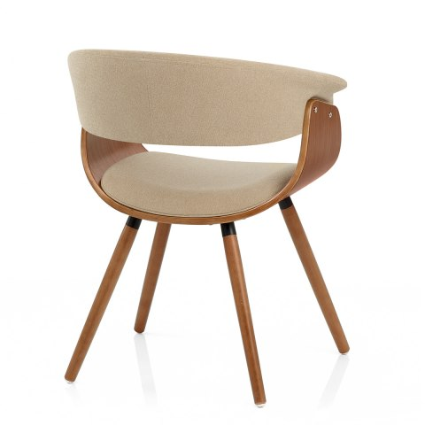 Grafton dining chair walnut beige atlantic shopping - Atlantic shopping dining chairs ...