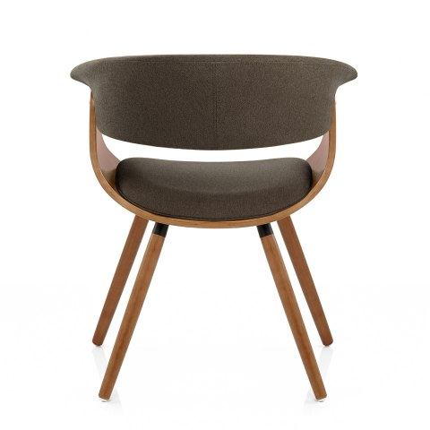 Grafton Dining Chair Walnut & Brown - Atlantic Shopping