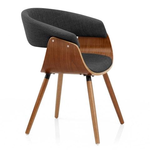 Grafton dining chair walnut grey atlantic shopping - Atlantic shopping dining chairs ...