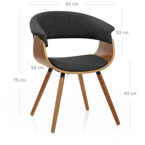 Grafton Dining Chair Walnut & Grey