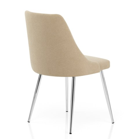 Shanghai Dining Chair Beige Fabric