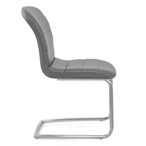 Mica Brushed Dining Chair Grey