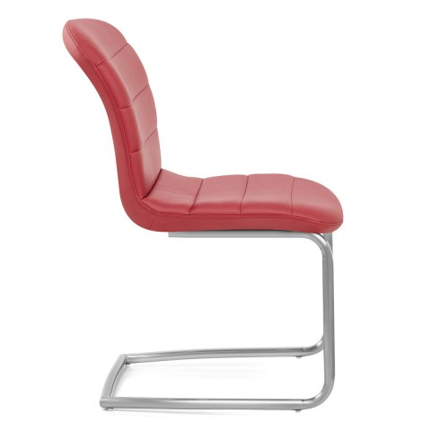 Mica Brushed Dining Chair Red
