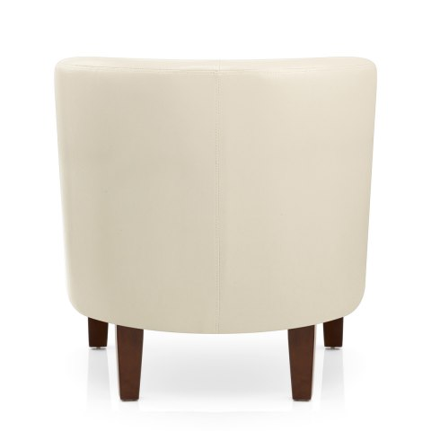 Tub Chair Cream Faux Leather