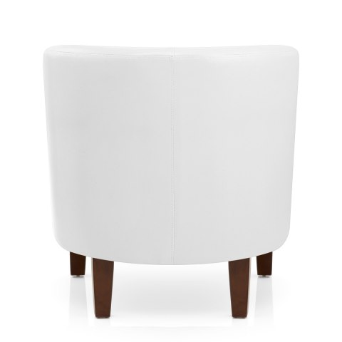 Tub Chair White Faux Leather