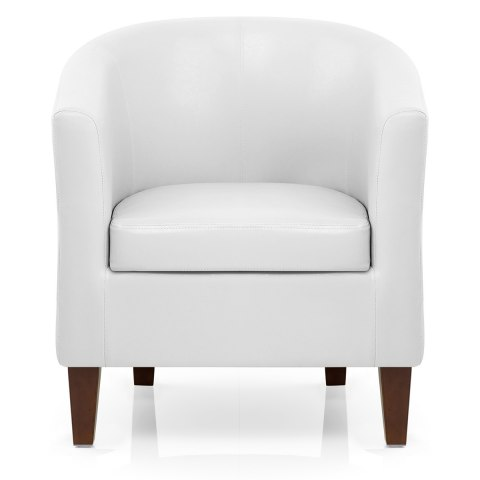 28 white leather tub chair plasmatising white faux for White bucket dining chairs