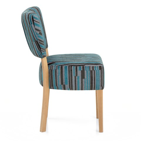 Ramsay Oak Dining Chair Matrix Stripe