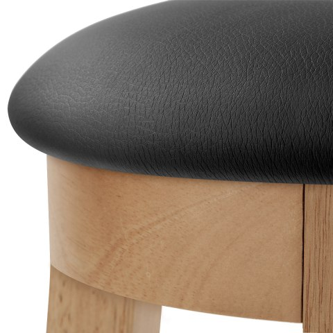 Ikon Kitchen Stool Oak & Black