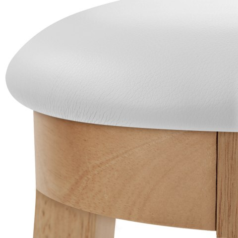 Ikon Kitchen Stool Oak & White