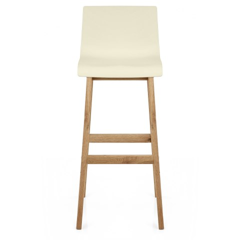 Drift Oak & Cream Bar Stool