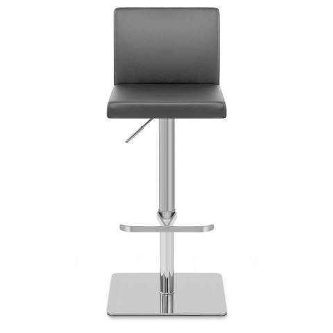 Lexi Brushed Steel Stool Grey