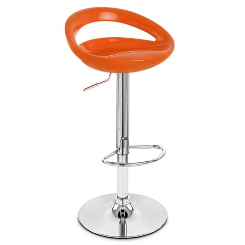 Crescent Bar Stool Orange
