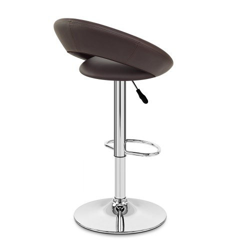 Padded Crescent Bar Stool Brown