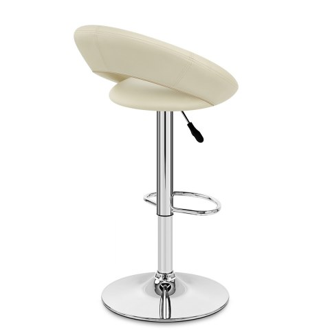 Padded Crescent Bar Stool Cream