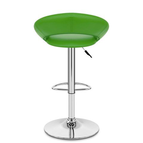 Padded Crescent Bar Stool Green