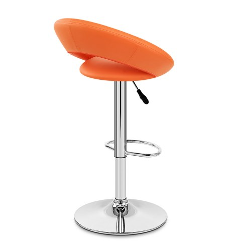 Padded Crescent Bar Stool Orange