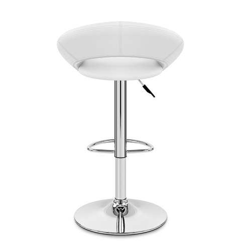 Padded Crescent Bar Stool White