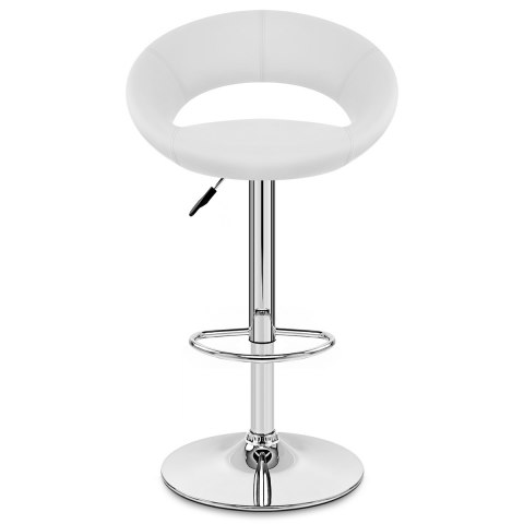 Padded Crescent Bar Stool White Atlantic Shopping