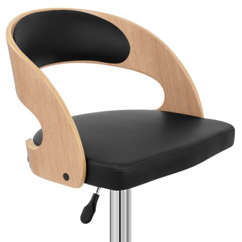Eve Oak Bar Stool Black