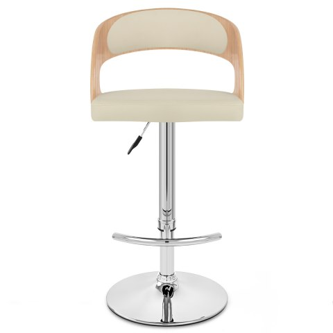 Eve Oak Bar Stool Cream Atlantic Shopping