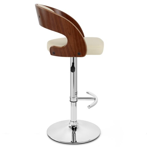 Eve Wooden Bar Stool Cream