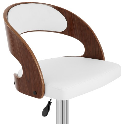 Eve Wooden Bar Stool White