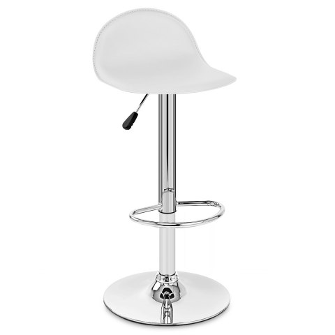 Cap Chrome Stool White