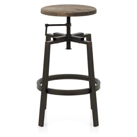 Industrial turner stool dark wood atlantic shopping - Screw top bar stools ...