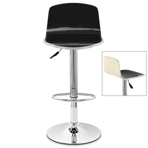 Glam Bar Stool Black & Cream