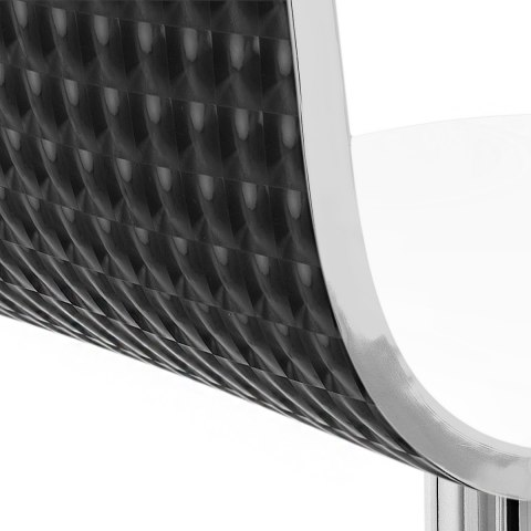 Glam Bar Stool White & Black