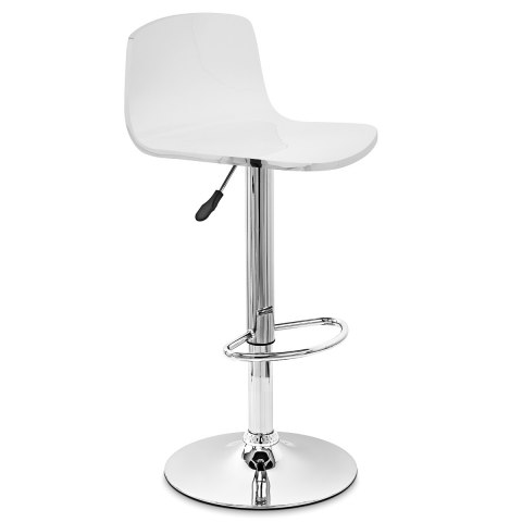 Glam Bar Stool White & Orange
