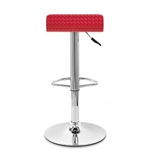 Glimmer Bar Stool White & Red