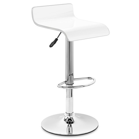 Glimmer Bar Stool White & Silver