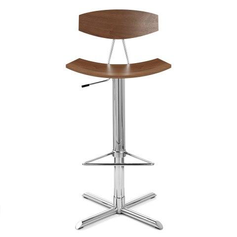 blade bar stool walnut atlantic shopping. Black Bedroom Furniture Sets. Home Design Ideas